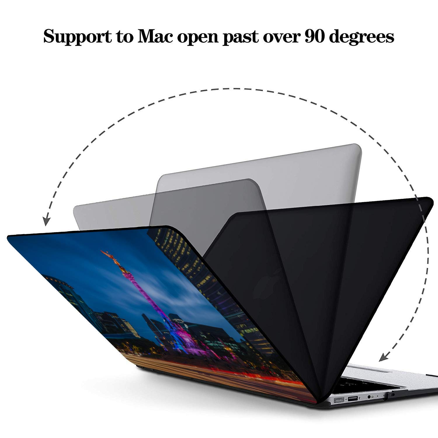 Hard Laptop Cases Shining Quiet Beautiful City Night View Plastic Hard Shell Compatible Mac Air 11 Pro 13 15 A1708 MacBook Pro Case Protection for MacBook 2016-2019 Version