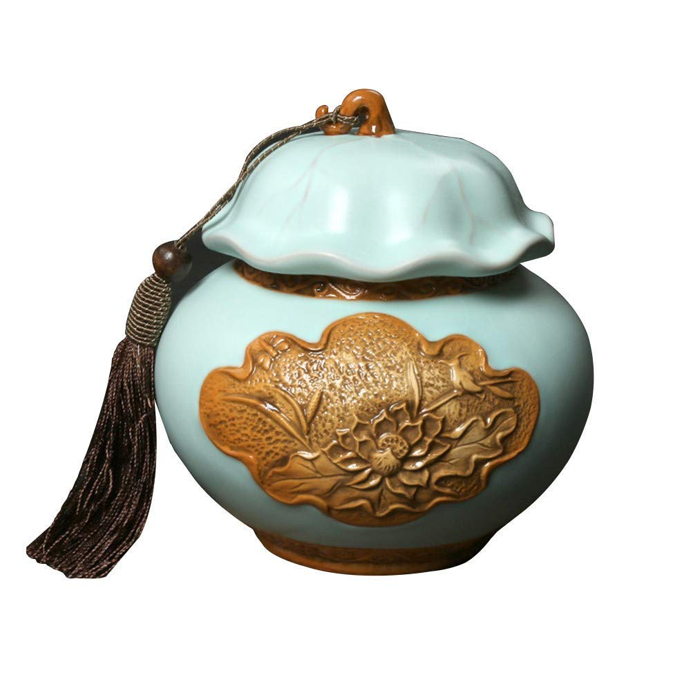 Style 1 13.313.6cm Style 1 13.313.6cm Small Cremation urn is Suitable for The Funeral of Human or pet ash Made of Ceramic and Hand-Painted Show at Home