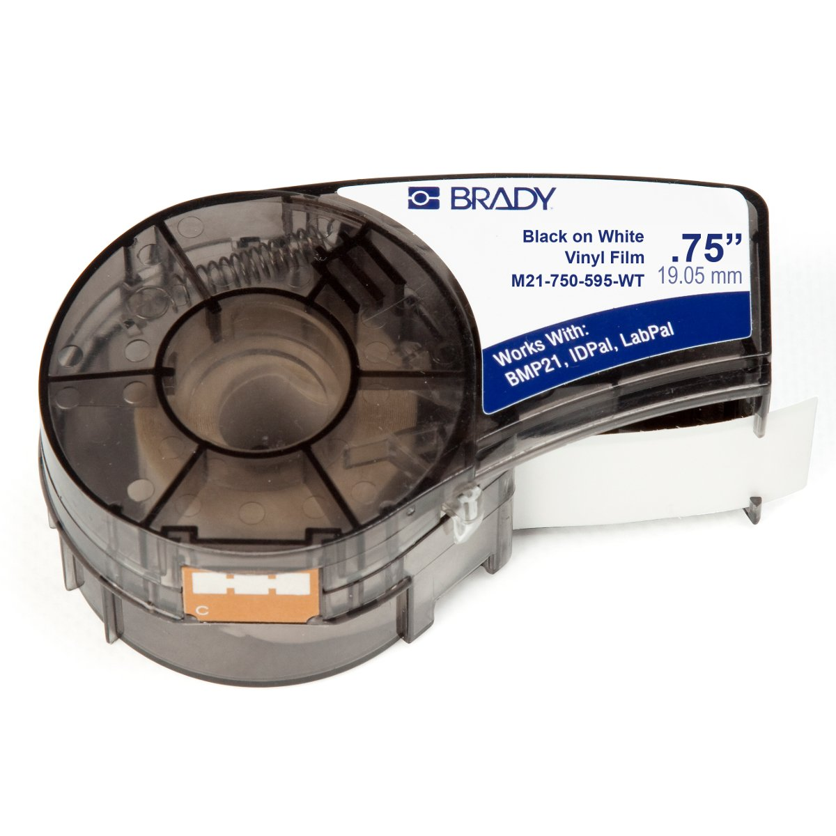 Brady M21-750-595-WT Signs, Labels & Markers Make-Your-Own Sign, Label & Marker Blanks Continuous Tape Cartridges for Printers