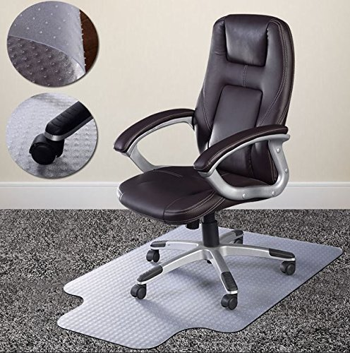 Bestee 48''X36'' Clear PVC Home Office Chair Floor Mat Studded Back Pile Lip Carpet Rectangular Standard Carpets Protector New by Bestee