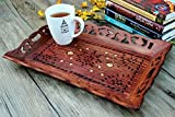 Small Kitchen Tables Ideas Decorative Rosewood Snack and Coffee Serving Tray with Brass Inlay Serveware