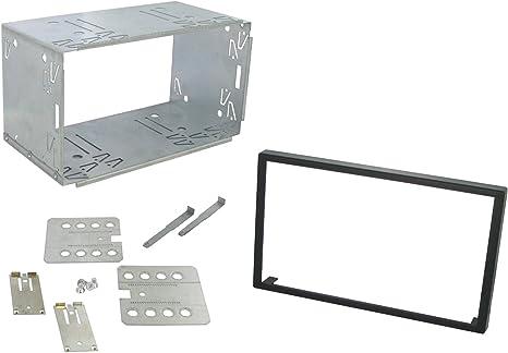 Kit de instalación universal 2 Din Double-DIN soporte marco Metallique 183 x 103 mm): Amazon.es: Electrónica