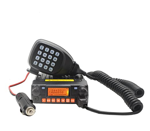 XUNERS Dual Band Car Radio VHF/UHF 136-174MHz/400-480MHz Mobile Two Way Radio 200 Channel Step Double Transceiver Amateur Ham Radio With Programming Cable