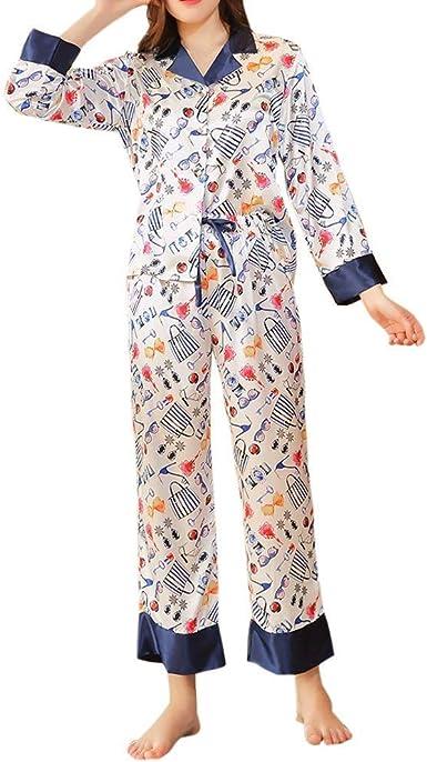 Conjunto De Pijama Mujer Gerade Elastische Taille Pantalones ...