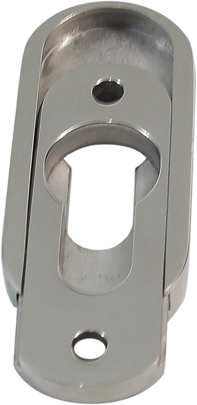 Edelstahl PZ Schieberosette SR-5241-P EF-poliert Oval Schutzrosette