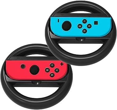 2 Negro Volante para Nintendo Switch Joy-Con, agarre para la rueda ...