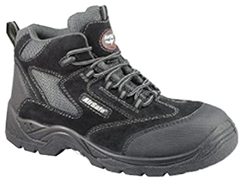 AirSafe Cordones Black Kevlar Non-Metal Puntera Botas de Seguridad AS-C5, Color