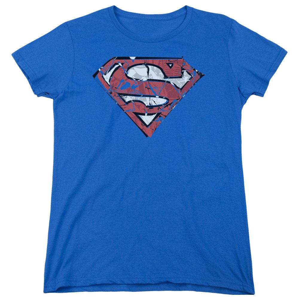 Amazon Superman Womens Ripped And Shredded T Shirt Clothing