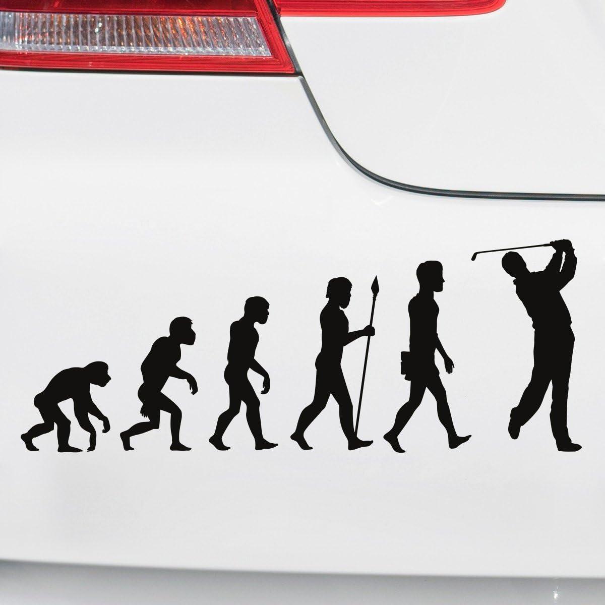 Motoking Autoaufkleber Lustige Sprüche Motive Für Ihr Auto Evolution Golf 25 X 9 5 Cm Türkis Seidenmatt Auto