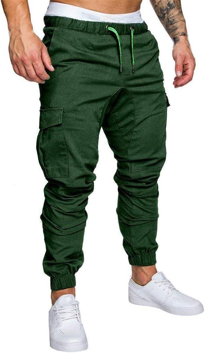Pantalones para Hombres Pantalones De Sólidos Colores Chándal ...