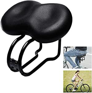 aXXcssqw9bMTB Road Mountain Bike Bicycle Curving Tube Soft Saddle Cushion Cover Seat Pad