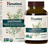Himalaya Organic Shatavari for Menstrual Regulation and Hormonal Balance, 1,300 mg, 1 Month Supply, 60 Caplets