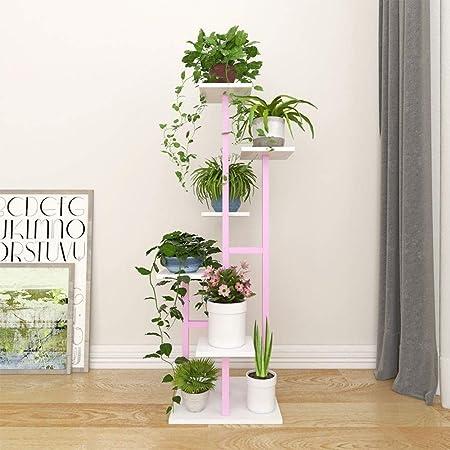 YZERTLH Soporte De Flores Escalera De Caracol Tipo Estantería De Decoración De Plantas para El Hogar Multifuncional Que Ahorra Espacio Adecuada para: Sala De Estar,PinkWhite: Amazon.es: Hogar