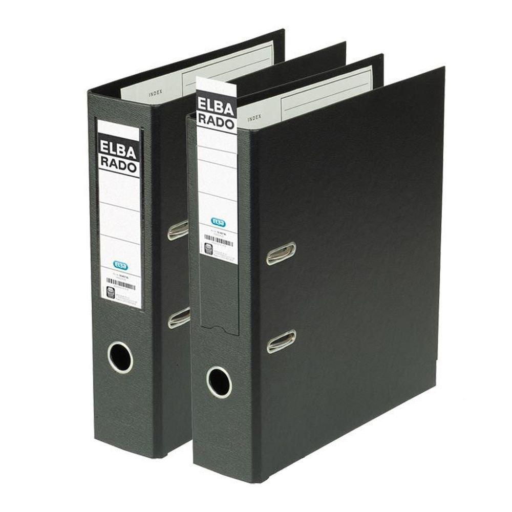 Elba Rado Plast 100022631 - Archivador palanca en PVC, A4, color negro: Amazon.es: Oficina y papelería