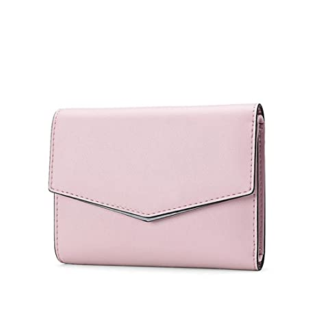 Billetera ZLR Lady Señoras Corto Cartera De Moda Multifuncional De Tres Doble Mini Cartera