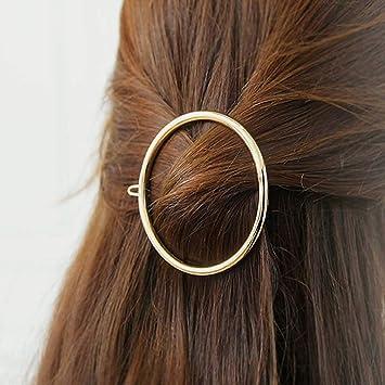 Geometric Women Alloy Hollow Hair Clip Mini Hair Claw Vintage Hair Accessories