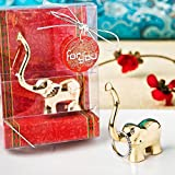 200 Gold Good Luck Elephant Ring And Jewelry Holder