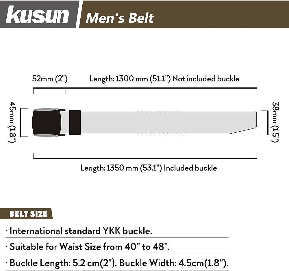 Kusun Uomo In nylon traspirante cintura Outdoor Sports impermeabile cintura stile militare a cinghia regolabile fibbia in plastica
