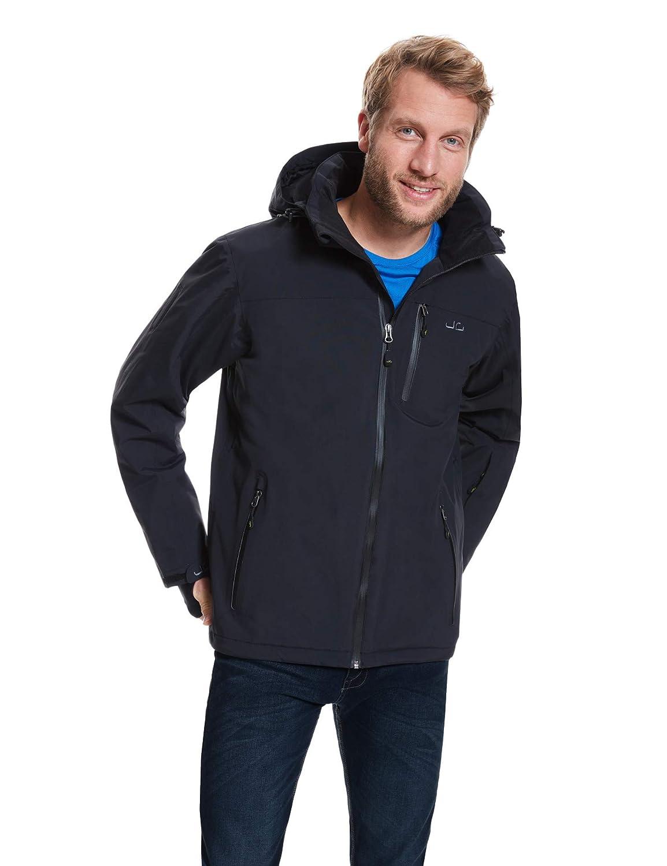 Jeff Grün Herren Atmungsaktive Wasserdichte Winter Ski Snowboard Jacke Bergen 12.000mm Wassersäule und Abnehmbare Kapuze
