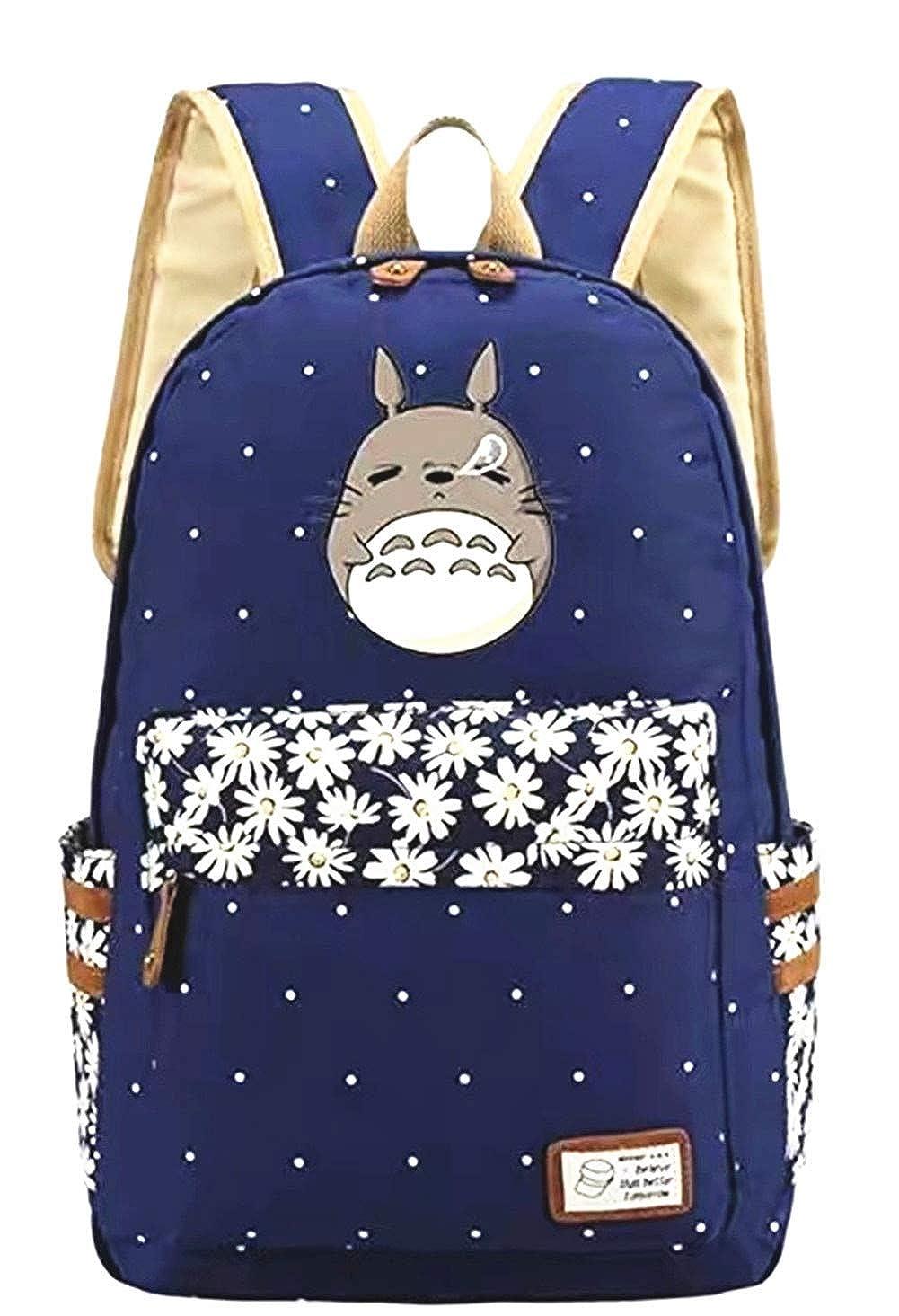 Anime My Neighbor Totoro Backpack Cosplay Canvas Bookbag Rucksack School  Shoulder Bag (Blue 1)  Amazon.co.uk  Clothing aa44254894