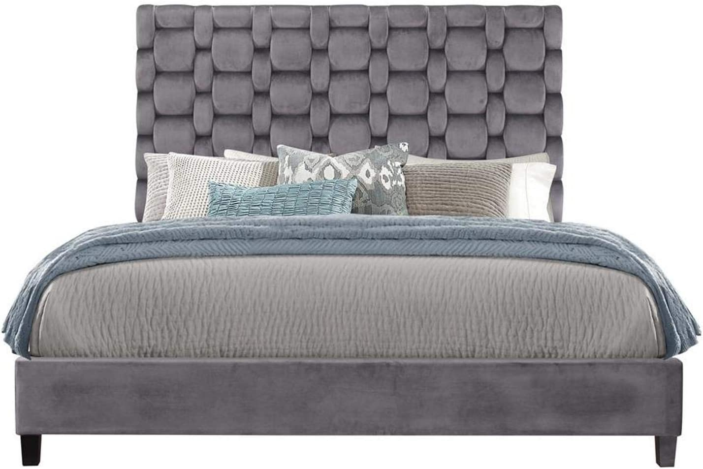 Global Furniture USA Grey Chambered Queen Bed