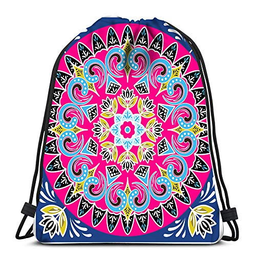 Drawstring Bags Backpack Costa Rica Ox Cart Wheel Design Square Travel Backpacks