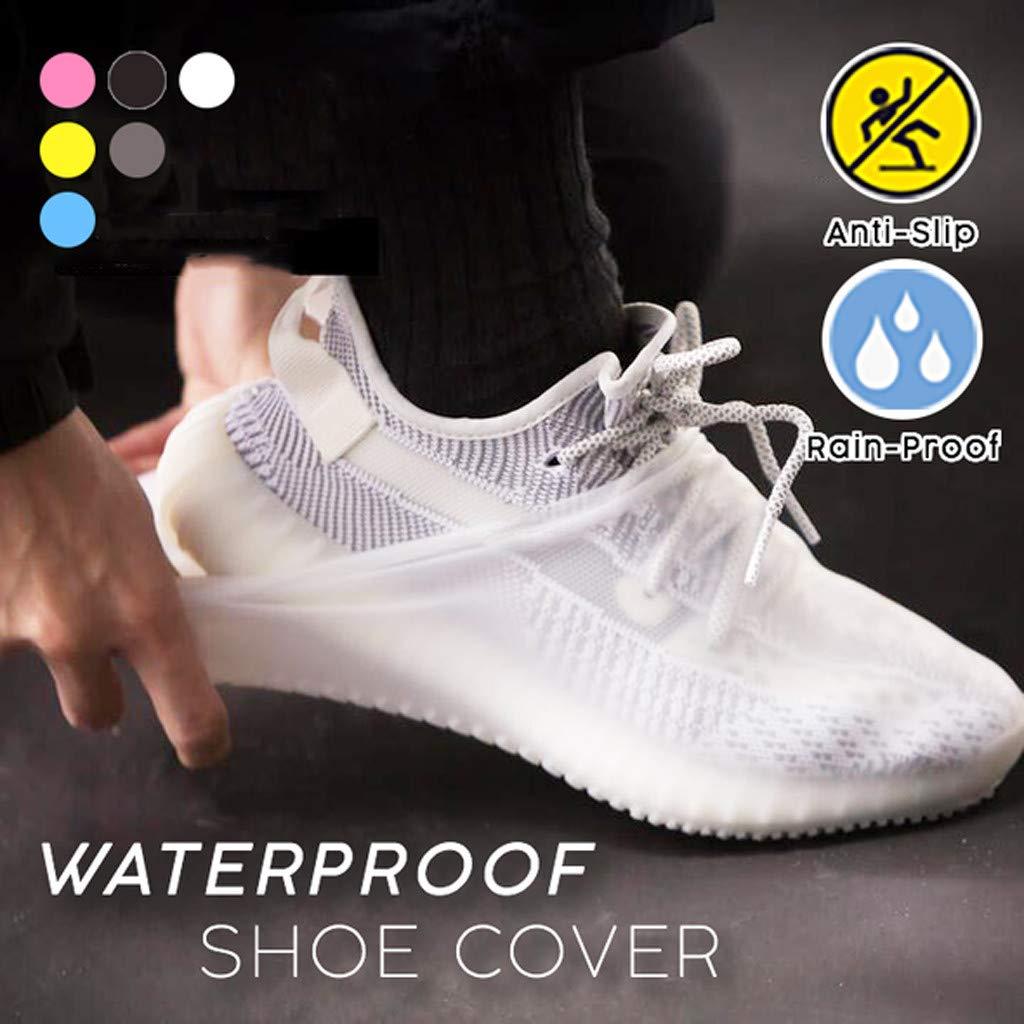 Bellelove 1 Paire de Bottes de Pluie imperm/éables Couvre-Chaussures r/éutilisables Paire de prot/ège-Chaussures imperm/éables en Silicone imperm/éables