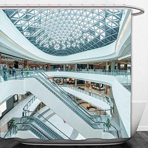 Beshowere Shower Curtain interior of modern shopping - Minneapolis Shopping Mall