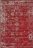 Unique Loom Sofia Collection Burgundy 4 x 6 Area