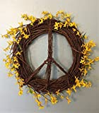 Spring Peace Sign Wreath