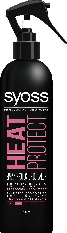 SYOSS - Spray protector térmico - Anti encrespamiento, Anti-humedad y Protección hasta 220ºC - 2 uds de 250ml