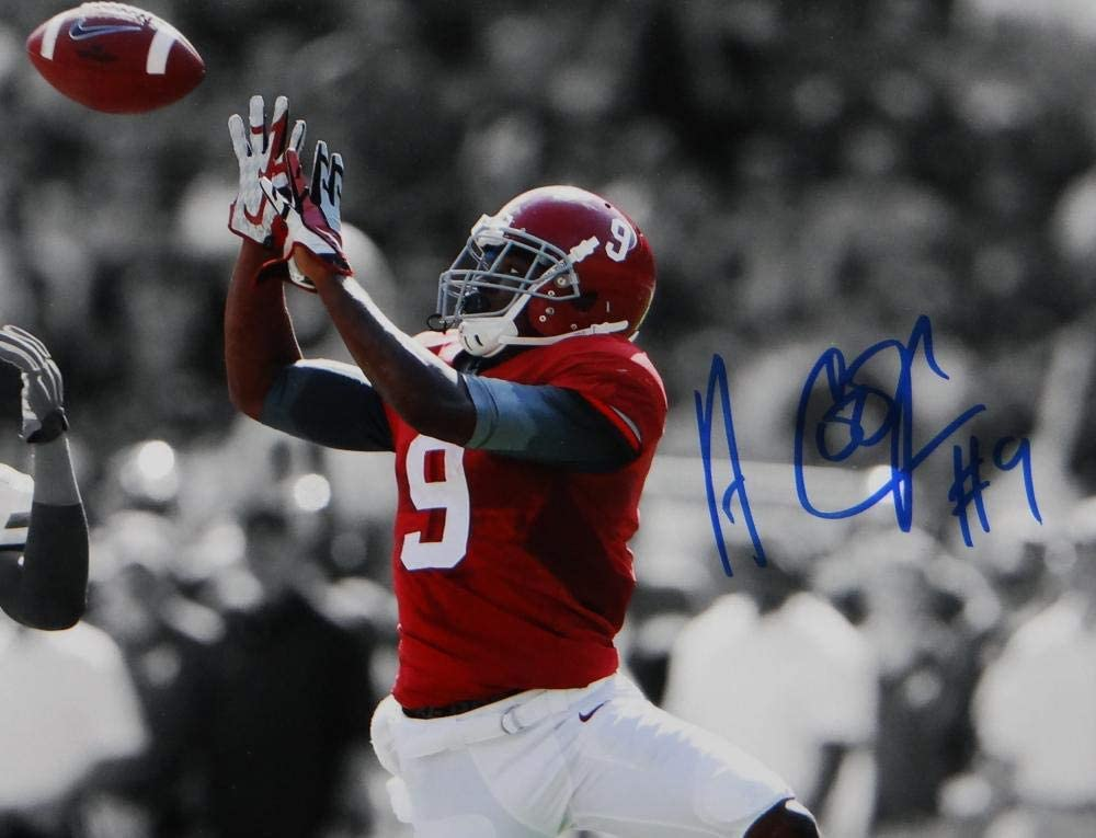 Amari Cooper Autographed Alabama 8x10 B/&W Color Catch PF Photo JSA W Auth Blue