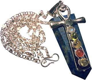 Lapislazuli Chakra Anhänger mit altägyptischem Anch (Ankh) Kreuz