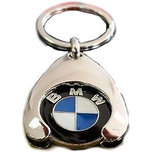 Unbekannt Original BMW Schl/üsselanh/änger mit Einkaufswagenchip verchromt Top Qualit/ät