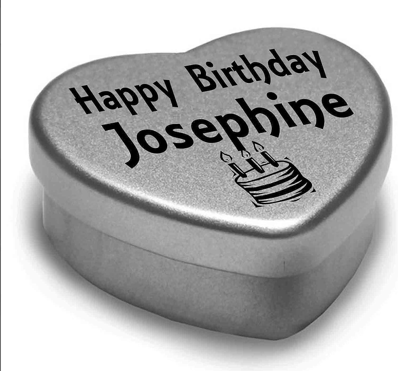 Happy Birthday Josephine Mini Heart Tin Gift Present For Josephine Chocolates
