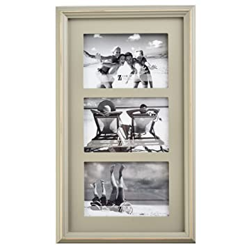Amazoncom Umical 3 4x6 Picture Frame Wooden Matted Three Opening