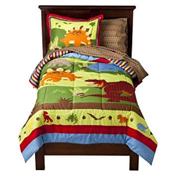 Amazoncom Circo Roar N Stomp Piece Bedding Set Twin Home - Circo comic bedding set