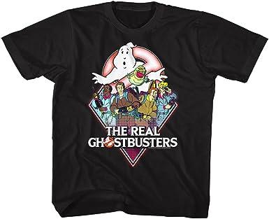 Real Ghostbusters Realgb Camiseta negra para niño: Amazon.es: Ropa y accesorios