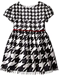 Little Girls' Houndstooth Shantung Dress