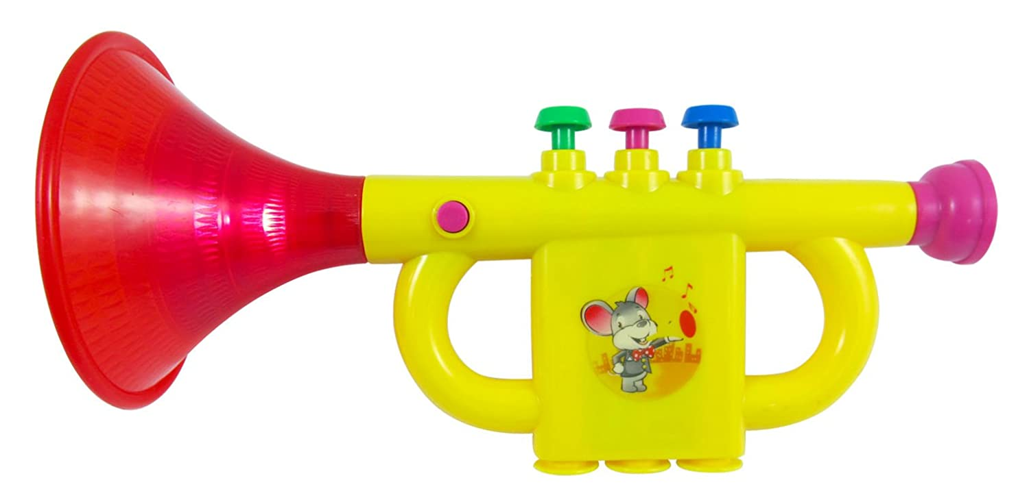 Toy trumpet musical trumpet toy instrument for kids amazon toy trumpet musical trumpet toy instrument for kids amazon toys games sciox Choice Image