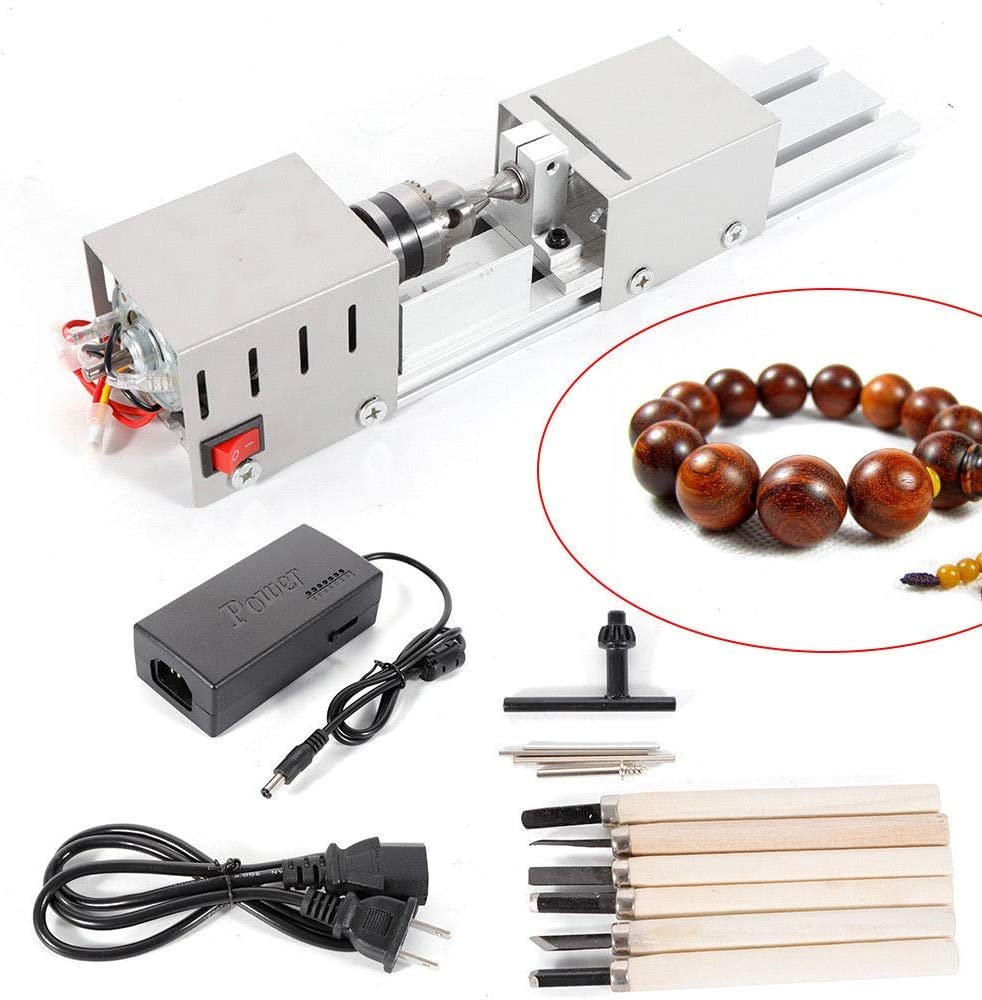 MLH-MLH Airbrushes and Accessories, Beading Machine Mini DIY Woodworking Lathe Buddha Pearl Lathe Grinding Polishing Beads Machine Lathe Tools