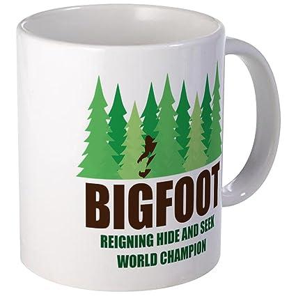 cf85520e Amazon.com: CafePress Bigfoot Sasquatch Hide And Seek World Champion Mug  Unique Coffee Mug, Coffee Cup: Kitchen & Dining