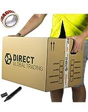 10 cajas de embalaje para mudanza extra grande y fuertes, de cartón doble capa,