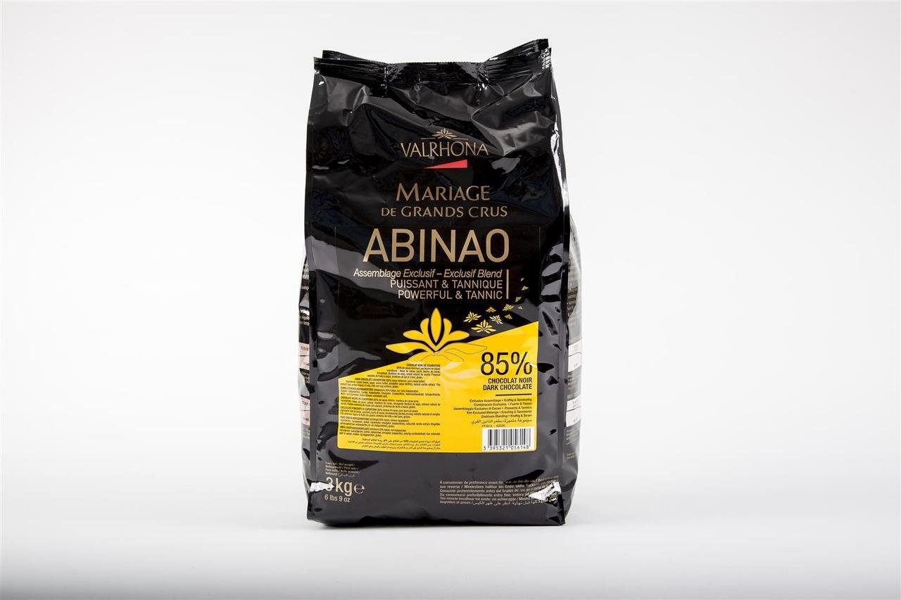 Valrhona Dark Chocolate Pistoles - 85%, Abinao - 1 bag, 6.6 lb