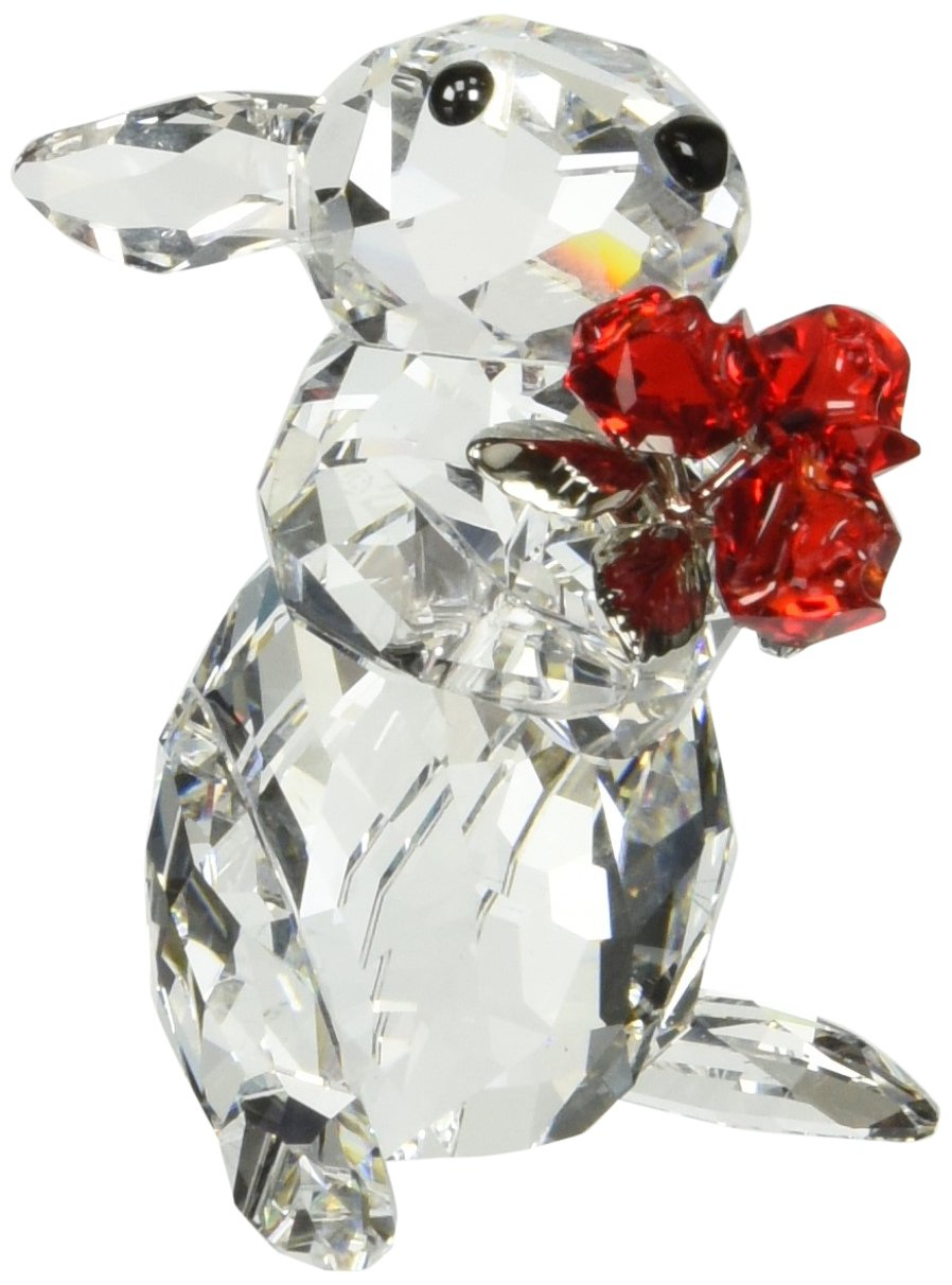 Swarovski Rabbit with Roses Figurines