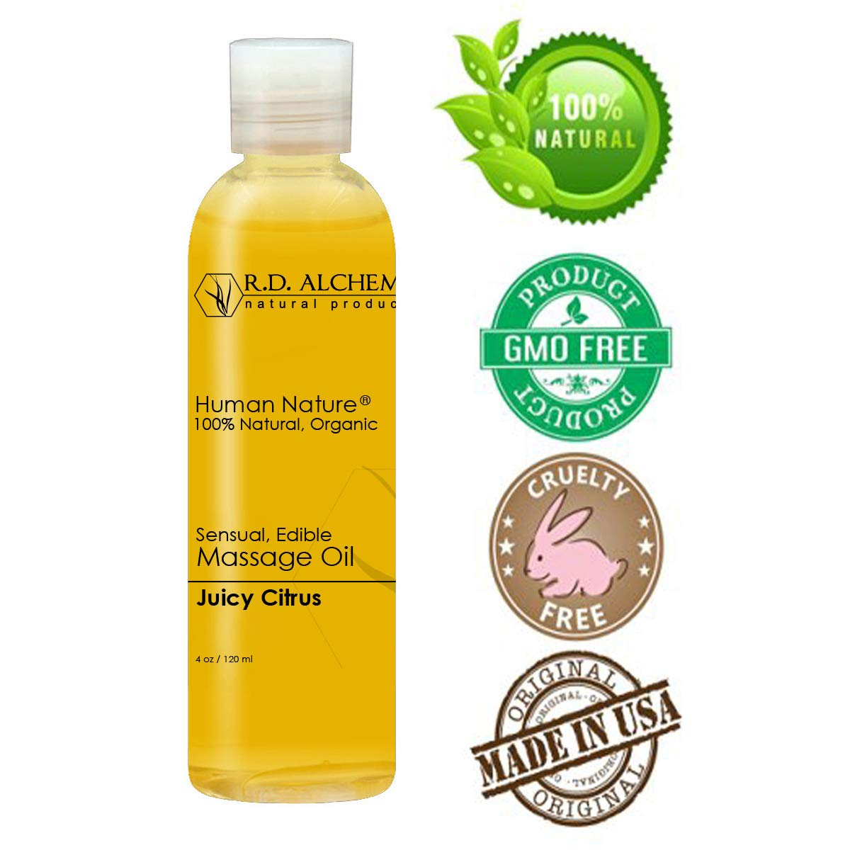 Amazon com: 100% Natural & Organic, Edible Massage Oil for