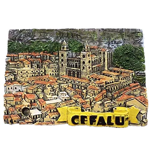 - Fridge Magnet Cefalu Sicily Italy 3D Resin Handmade Craft Tourist Travel City Souvenir Collection Letter Refrigerator Sticker