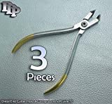 3 T/c Distal End Cutter Cut & Hold Plier Dental Orthodontic Pliers Instruments