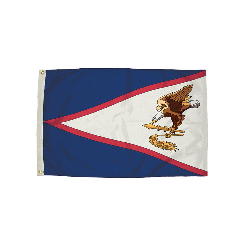 Flagzone Nylon American Samoa Flag Heading & Grommets