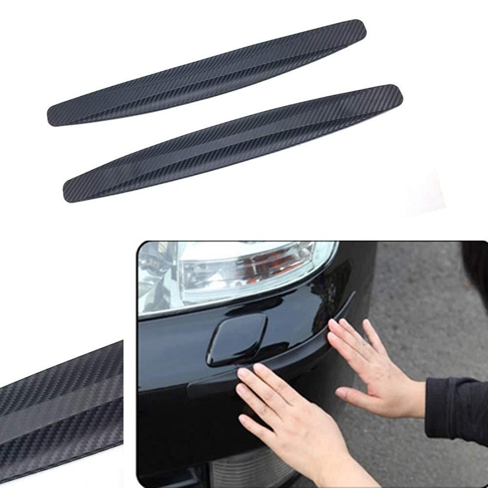 FRFJY Bumper Black Carbon Fiber Pattern 2 Streifen Auto Sto/ßstange Anti-Kratz-Gummistreifen